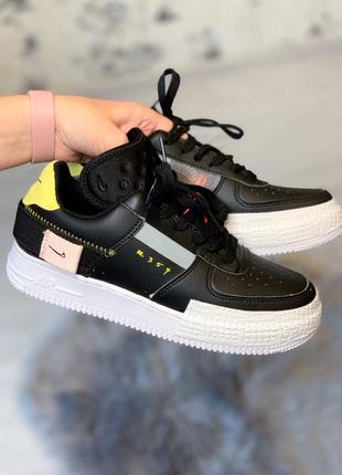 "Женские кроссовки nike air force 1 low type n. 354 ""black"""