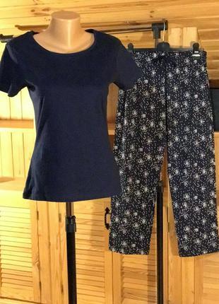 Коттоновая женская пижама love to lounge, primark, xs.