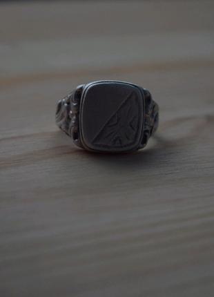 Перстень мужской печатка кольцо серебро