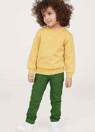 Хлопковые брюки-чиносы от бренда h&m разм. 128(7-8лет)