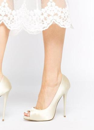 Туфли на каблуке с открытым носком асос asos