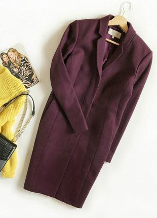 Идеальное шерстяное брендовое пальто миди кокон hobbs (цена в ...