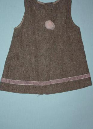 Платье-сарафан полушерстяное р-80/86 в отличном состоянии