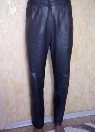 Меланжевые мягенькие 100% кожаные брюки/ кожаные брюки/ брюки/...
