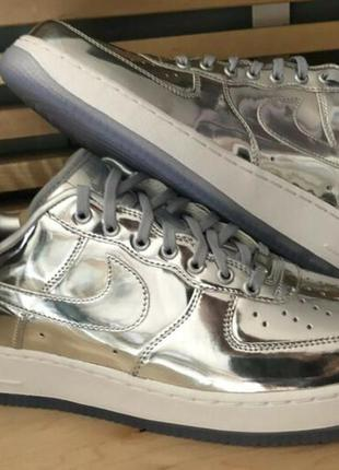 Женские кроссовки nike air force 1 low metallic silver