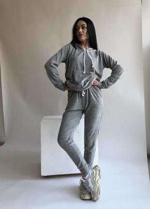 Спортивный костюм комплект кофта и штаны брюки велюровый