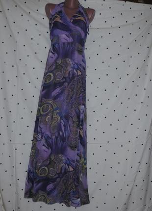 Длинное платье-сарафан с открытой спинкой