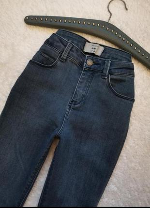 Скинни джинсы базовые высокая посадка талия размер 26 - 27 new...