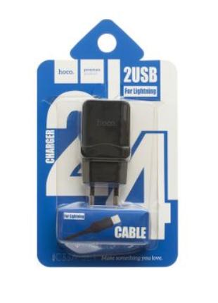 Мережеве Зарядний Пристрій Hoco C33A Lightning