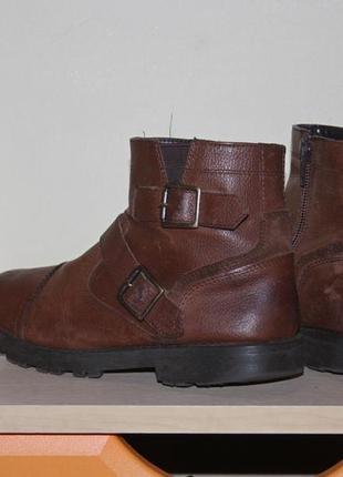 """Кожаные сапожки. ботинки на весну. деми ботинки на мальчика """"m&s"""""""