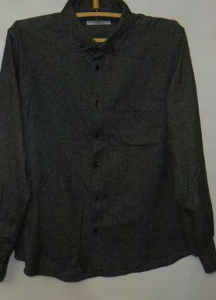 Теплая рубашка, воротник 45см