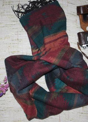 Объемный теплый  шарф