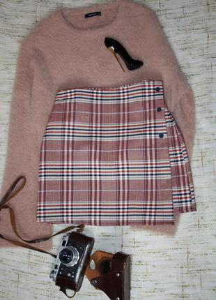 Актуальная юбка в клетку. юбка на запах storets
