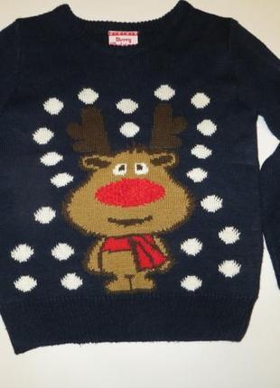 Новогодний свитер 5-6лет
