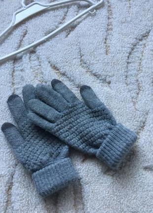 Теплые перчатки, с сенсорными пальчиками