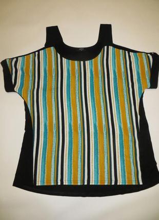 Интересная футболка с открытыми плечами
