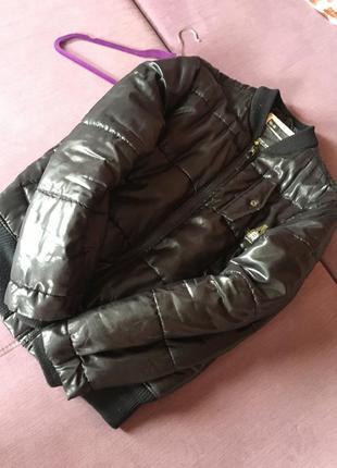 Теплая клевая куртка дутик brodway nyc с нюансом