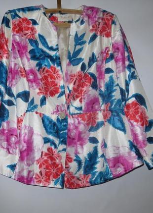 Шикарный пиджак, цветочный принт, ann harvey london, р.22