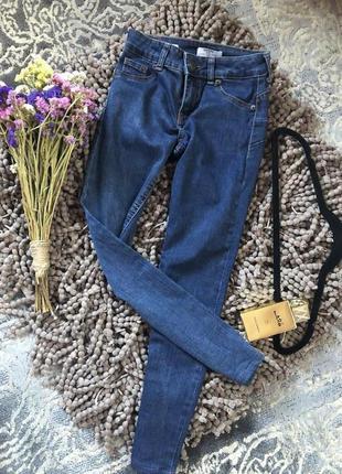 Актуальные темные  джинсы , скинни bershka с эфектом push up н...