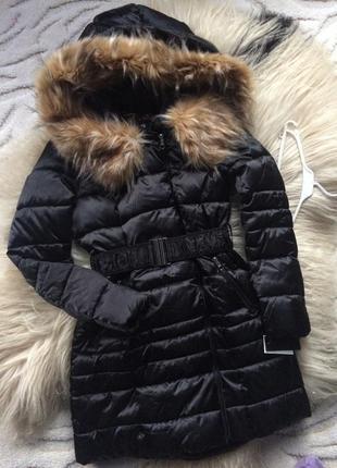 Теплая длинная куртка, пуховик с америки steve madden новая с ...