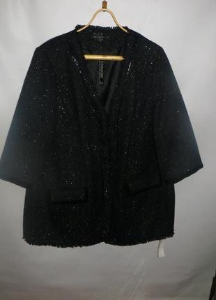 Пиджак, жакет с укороченым рукавом большого размера р.28