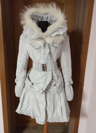 Стильное зимнее пальто на синтепоне