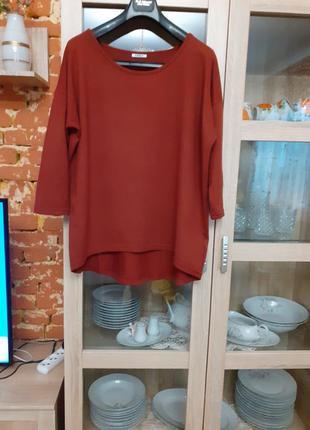 Суперовый тёплый пуловер большого размера