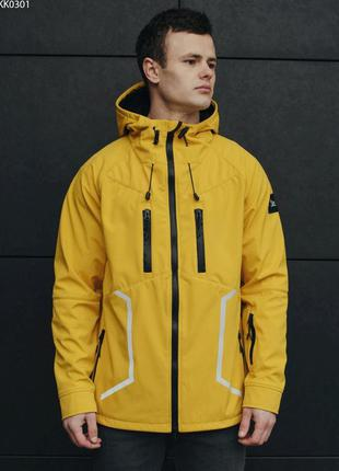 Куртка staff soft shell yellow line