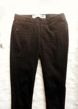 Черные джинсы скинни на резинке с пуш-ап на попе американки дж...