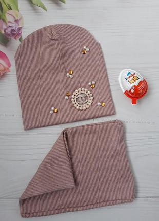 Весняний набір шапка+хомут