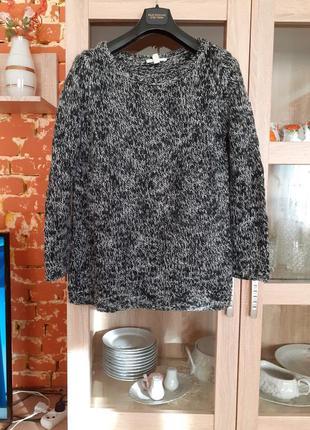 Стильный тёплый пуловер большого размера