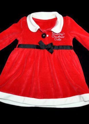 Платье новогоднее для девочки 6-9 мес новорожденный фотосессия