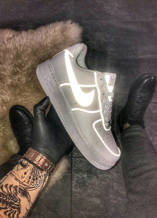 🔥 Nike Air Force 1 Low White REFLECTIVE.