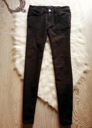Черные джинсы скинни американки узкачи с карманами стрейчевые ...