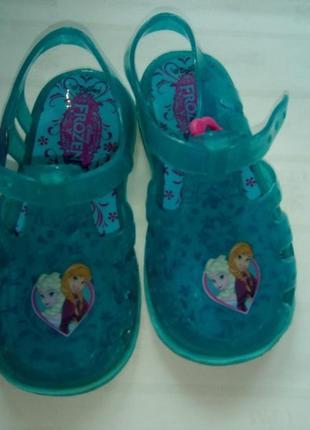 Босоножки сандалии мыльницы frozen uk 5 р.22 13 см холодное се...