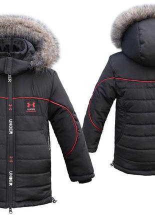 Зимняя куртка на меховой подстежке от 2 до 10 лет.