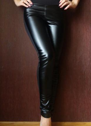 Черные женские лосины 42 44 46 48
