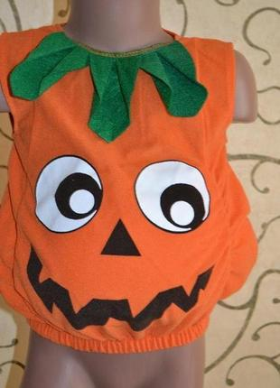 Костюм карнавальный тыква хеллоуин 1-2 года р.92