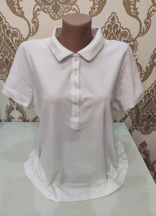 Marks & spencer женская белое поло, белая футболка, большой ра...