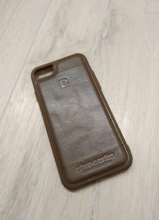 IPhone 7 / 8 чехол кожаный коричневый