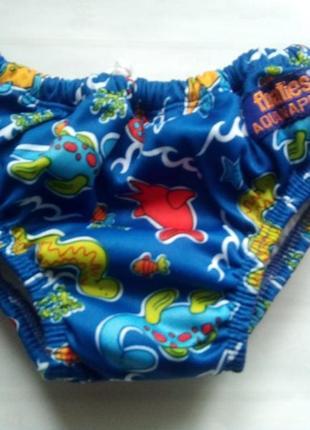 Трусики плавки-подгузник для бассейна floaties aquanappies 3-6...