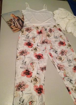 Пижамные штанишки с принтом.1087