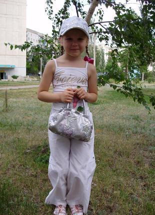 Штаны брюки для девочки motion wear 6-7 лет весна-лето