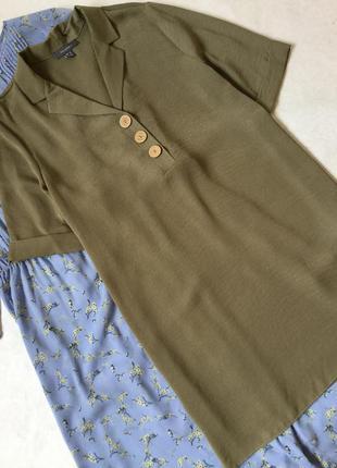 Платье рубашка хаки primark размер 16