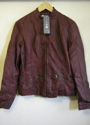 Куртка бордовая cache cache искусственная кожа арт.580 + 2000 ...