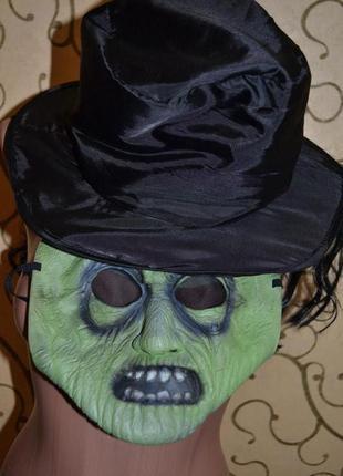 Шляпа с маской и волосами карнавальная хелоуин hellowin ведьма...