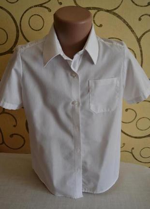 Рубашка блуза блузка классика george школьная 6-7 лет р.116-122
