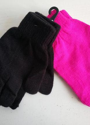 Детские подростковые  комплекты варежки перчатки унисекс ,сток...
