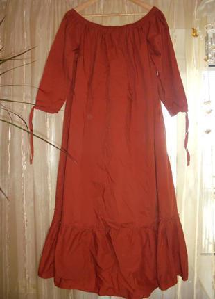 Шикарное платье  кирпичного цвета большой размер