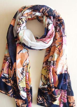 Женский хлопковый шарф палантин  голландского бренда c&a  сток...